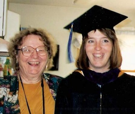 Mae and Trina, 1995 (Trina's MBA graduation)
